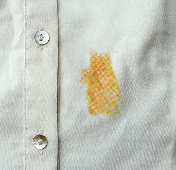 stain on cloth
